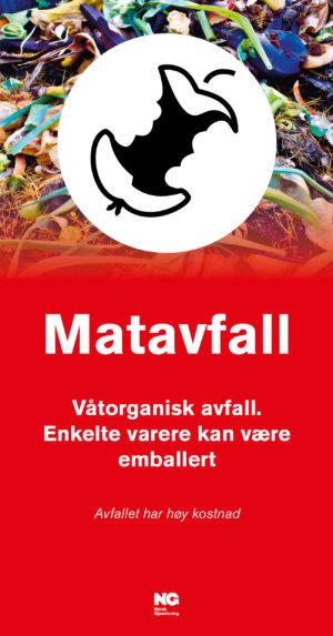 Informasjonsskilt om avfallstypen Matavfall